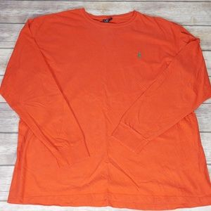 Polo Ralph Lauren Orange Long Sleeve Crewneck XL